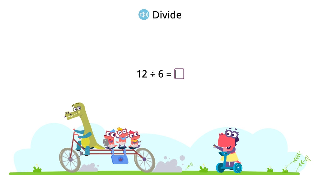 Solve division problems with a divisor of 6 (Level 1)
