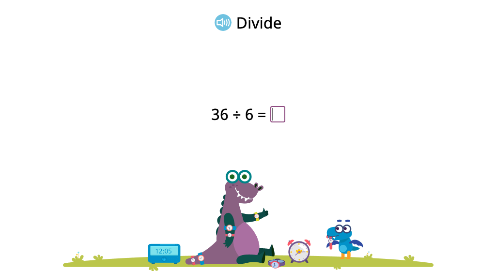 Solve division problems with a divisor of 6 (Level 2)