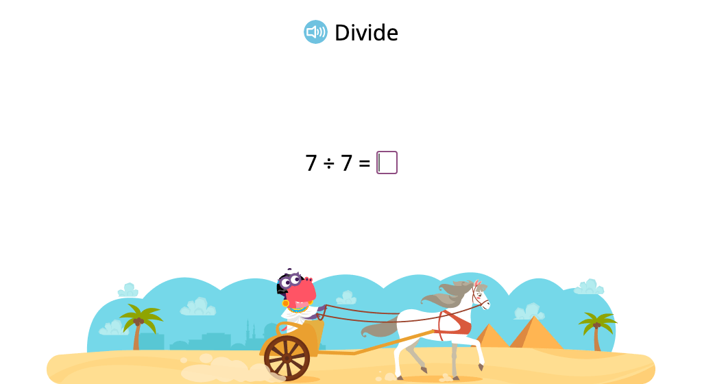 Solve division problems with a divisor of 7 (Level 1)
