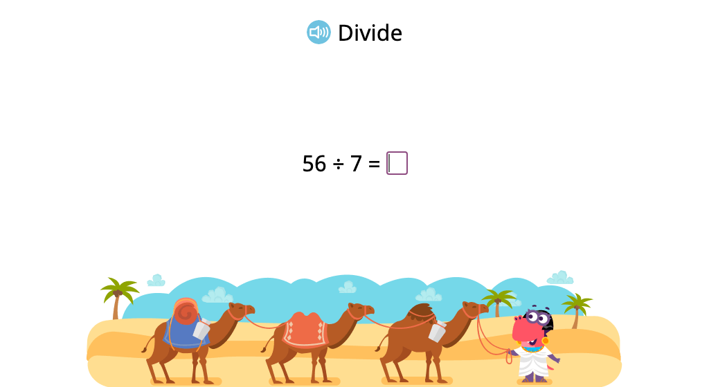 Solve division problems with a divisor of 7 (Level 2)
