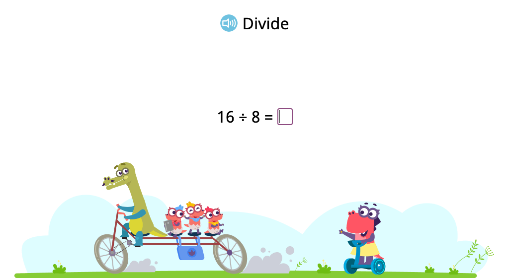 Solve division problems with a divisor of 8 (Level 1)