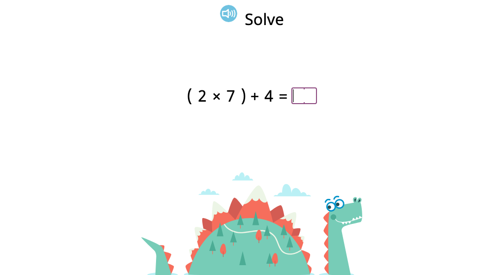 Solve multi-step equations that include parentheses (Level 2)