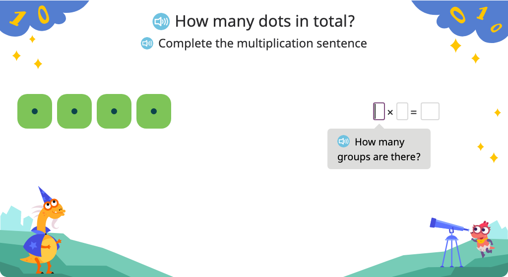 Compose a multiplication sentence (including x0) to represent a model