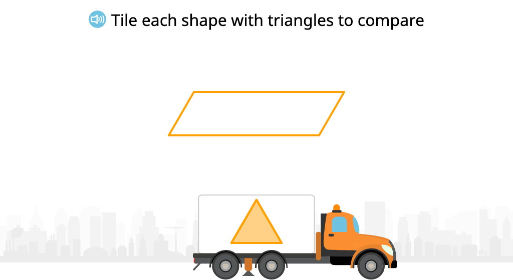 Tile 2-dimensional shapes to compare their area