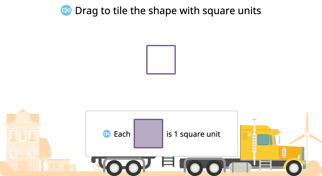 Determine and compare area by tiling with square units