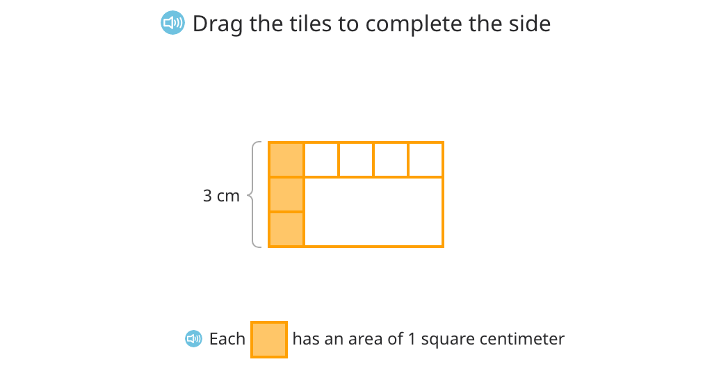Multiply to find the area of a tiled rectangle (Level 1)