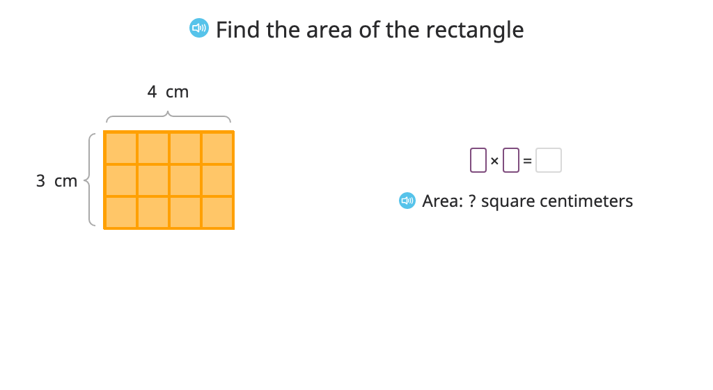 Determine the area of a rectangle based on the equal area of a different rectangle