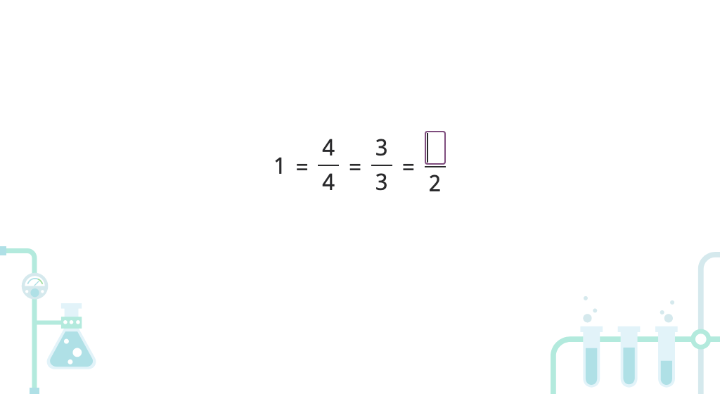 Write whole numbers as fractions (denominator of 1)