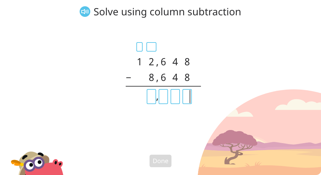 Subtract multi-digit numbers using the standard algorithm