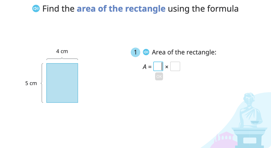 Determine the area and perimeter of the same rectangle