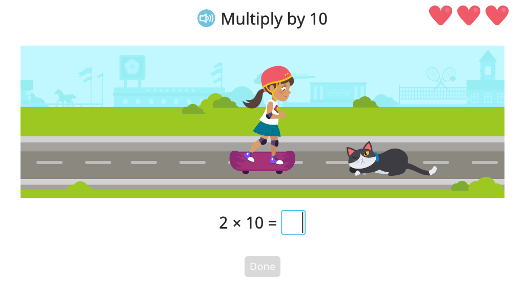 Multiply a 1-, 2-, or 3-digit number by 10, 100, or 1,000
