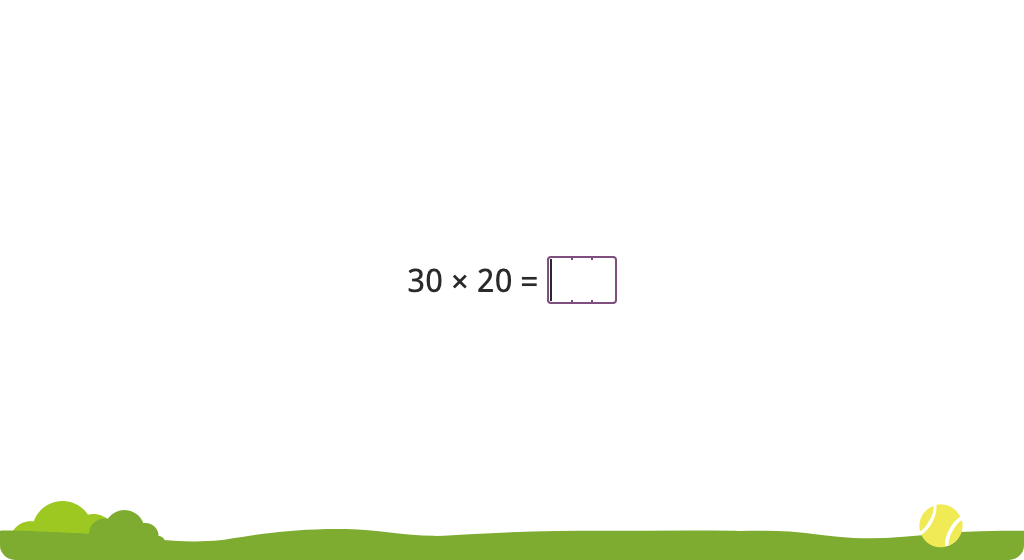 Multiply a 2-digit round number by a 2-digit round number