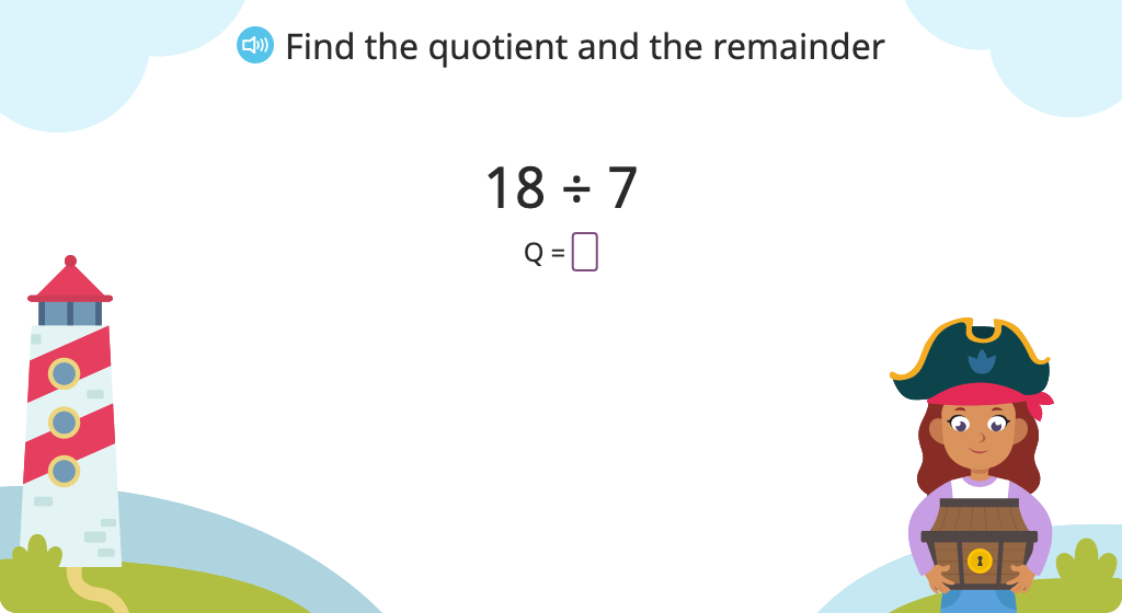 Solve a division problem with a remainder
