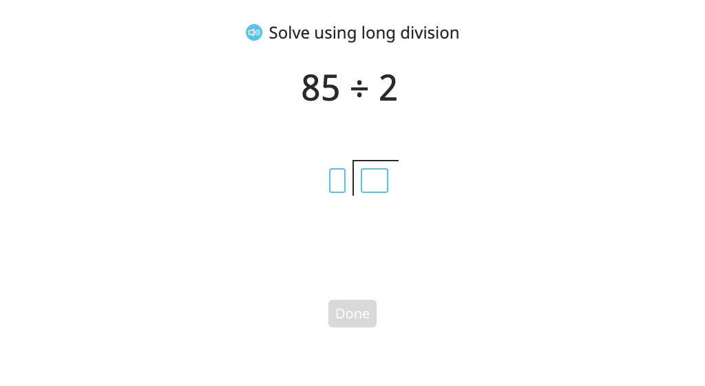 Model and solve a division problem using long division by recording partial quotients