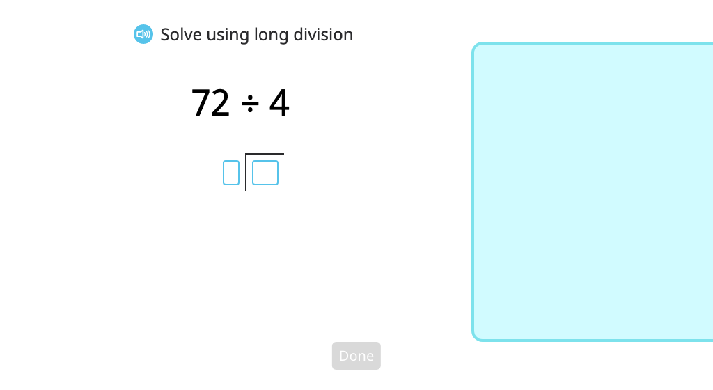 Use long division to solve problems with a 2-digit quotient