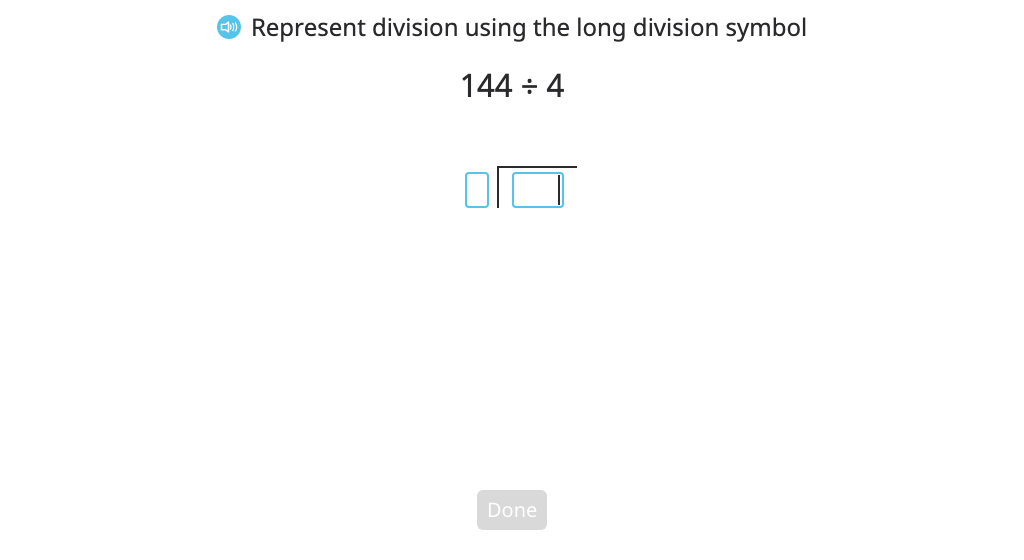 Divide using long division and a disk model (with regrouping and a remainder) (Part 4)