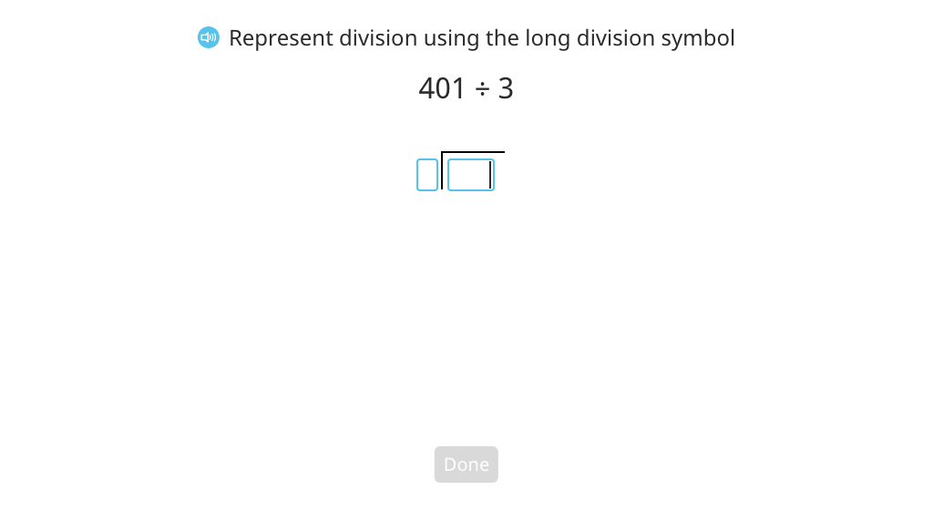 Divide across a zero using long division with partial quotients and a disk model (with regrouping and a remainder) Part 1
