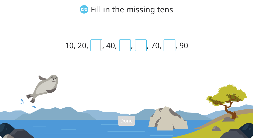 Identify a round number as a multiple of 10