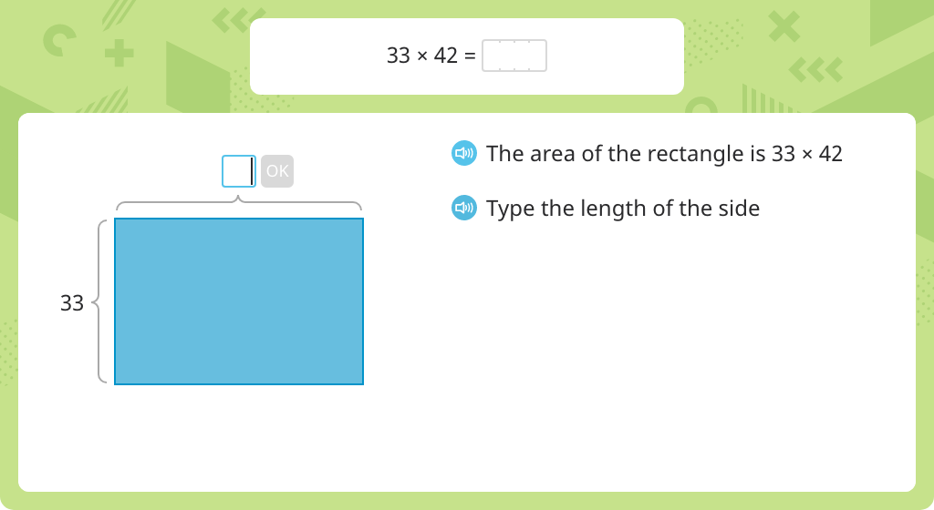 Multiply to find the area of a rectangle using the distributive property and the standard algorithm
