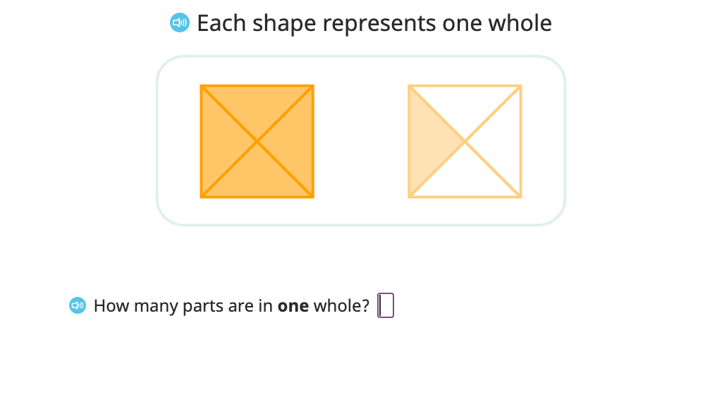 Label a shaded figure using fraction notation and shade a given fraction of a figure (fractions greater than 1)