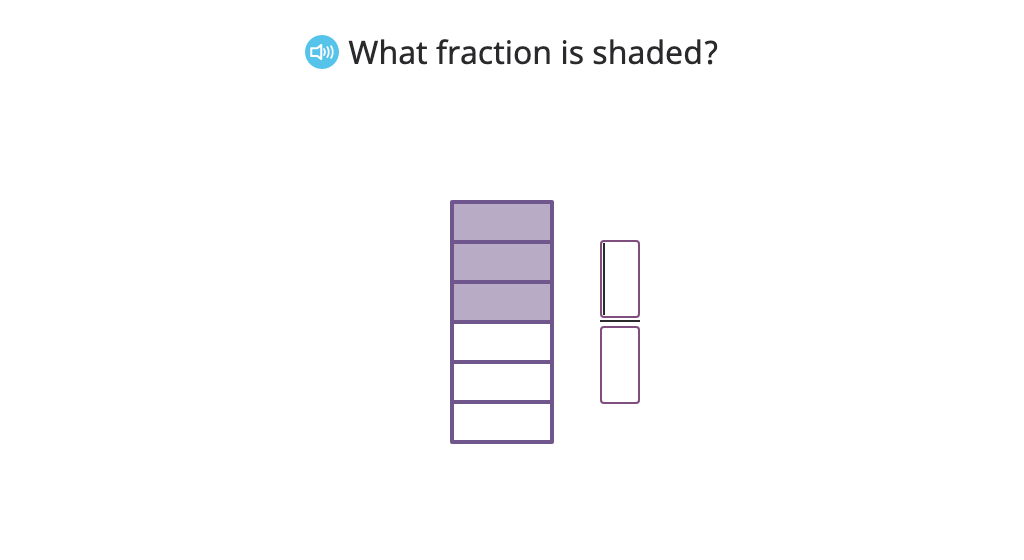 Identify numerator and denominator in a fraction