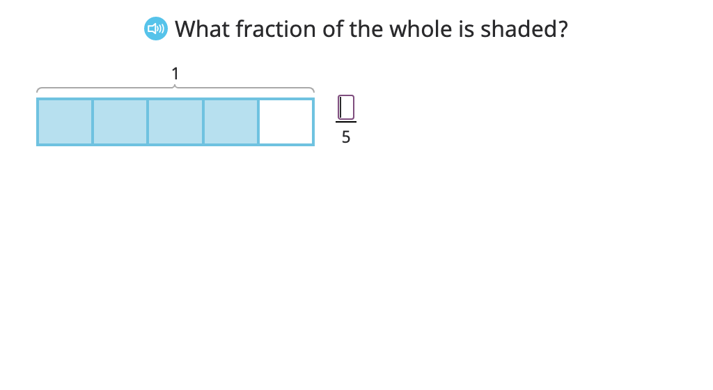 Model a fraction as the sum of its parts and record this as an equation