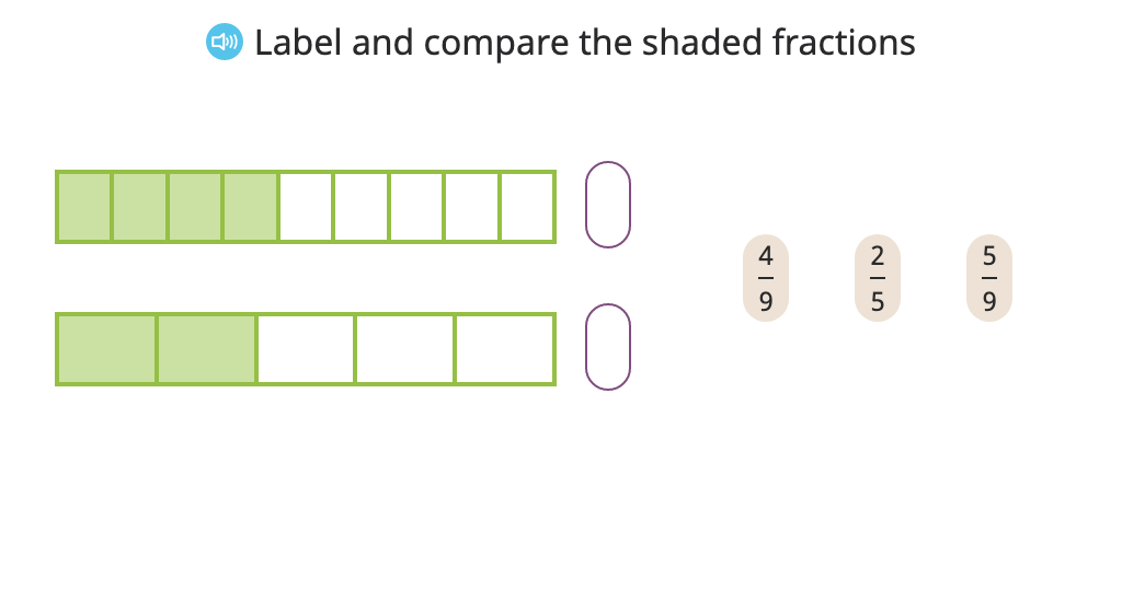 Compare fractions by finding a common numerator (when one numerator is a multiple of the other)