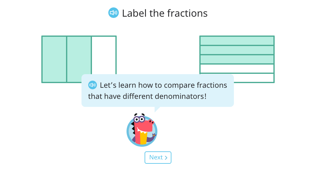 Compare fractions by finding a common denominator (when one denominator is not a multiple of the other)