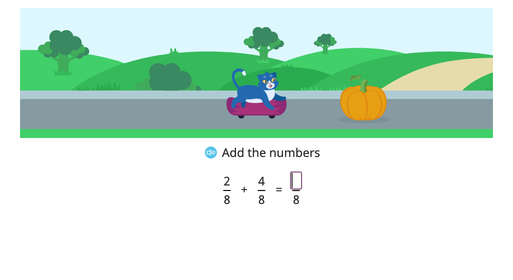 Add fractions with a common denominator