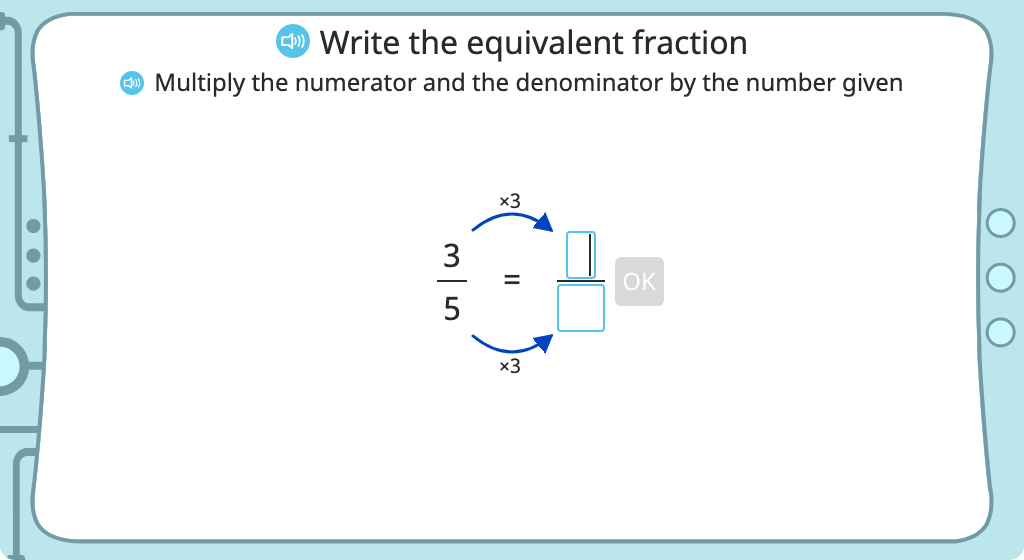 Rename a fraction as an equivalent fraction