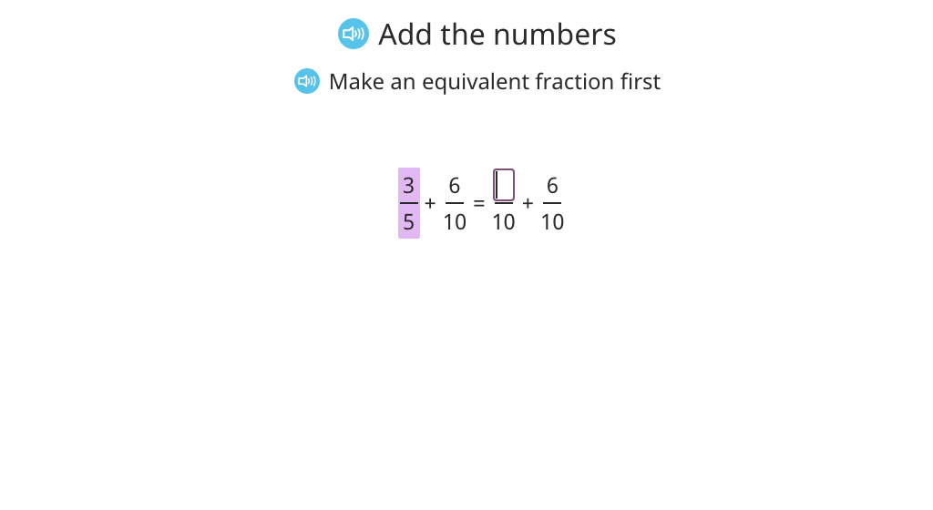 Add fractions with different denominators and rename the sum as a mixed number