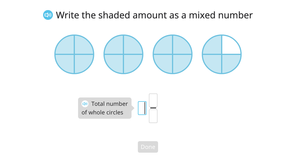 Label a model with a mixed number and a fraction greater than 1