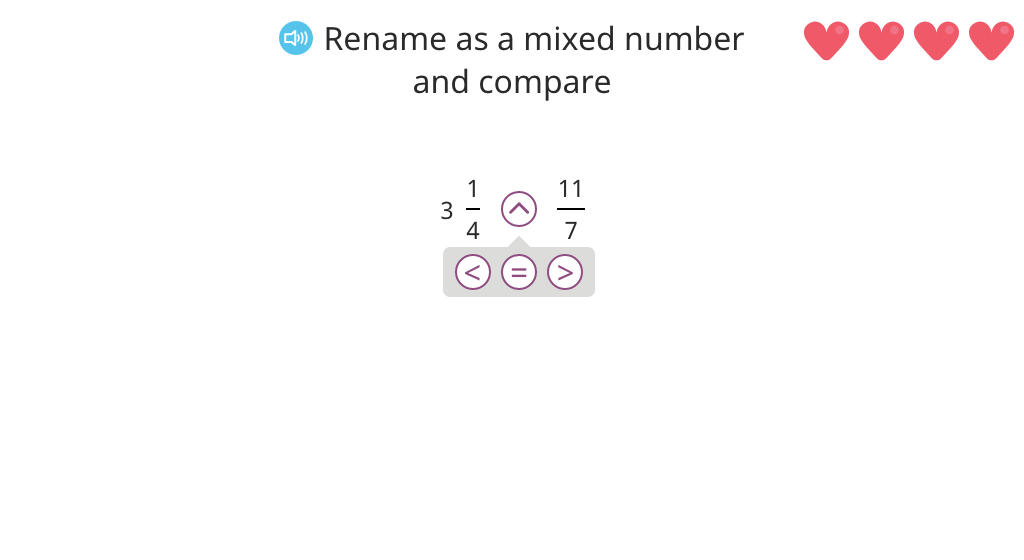 Compare a fraction greater than 1 with a mixed number or a fraction greater than 1