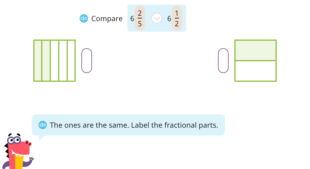 Compare mixed numbers with different denominators (Part 3)