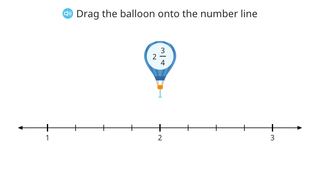 Round a mixed number to the nearest whole with and without a number line