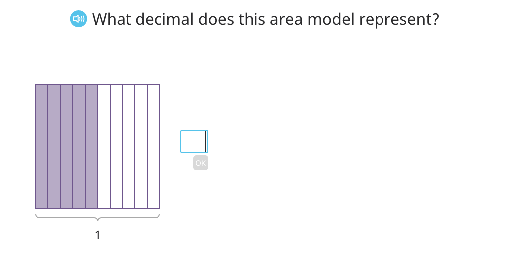 Compare equivalent tenths and hundredths in decimal form