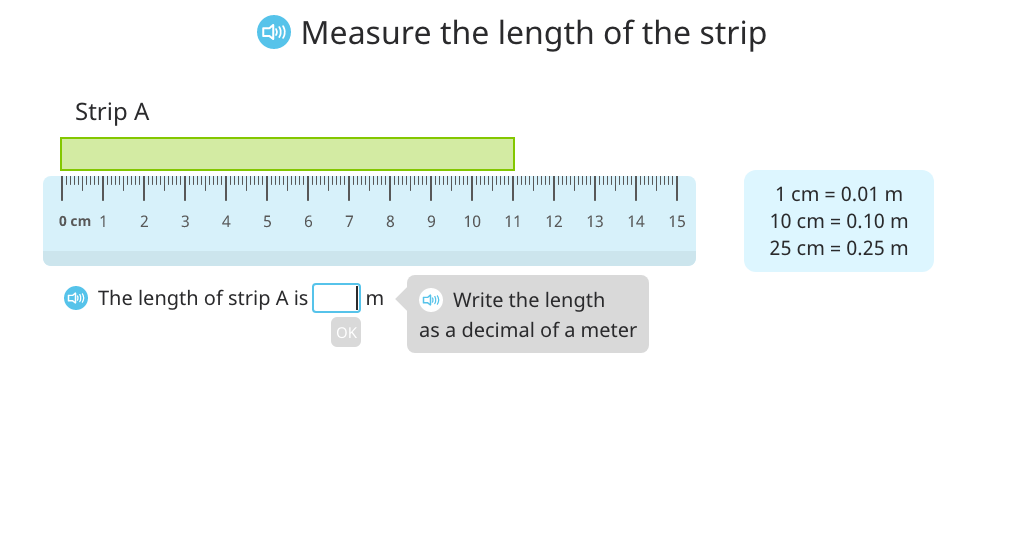 Use <, =, and > to compare decimal measurements of length, mass, and volume