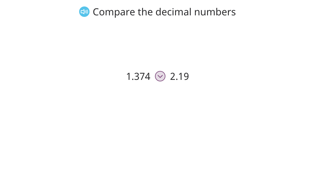 Complete inequalities that compare numbers to the hundredths place