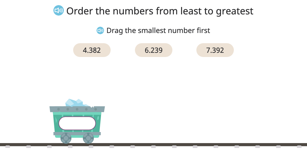 Arrange decimal numbers in order from smallest to greatest (Level 1)