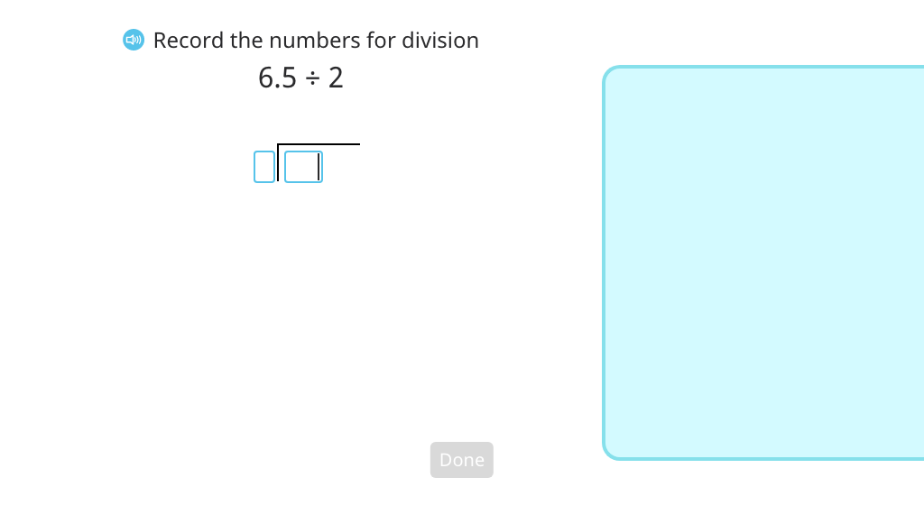 Use long division to divide a decimal number by a single-digit number with regrouping to a new place value
