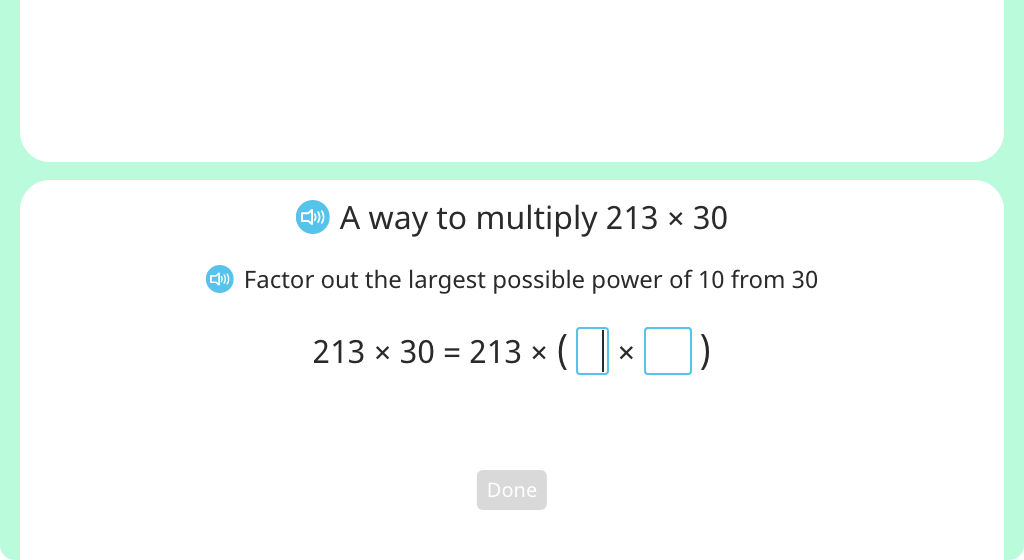 Factor out powers of 10 to simplify multiplication expressions