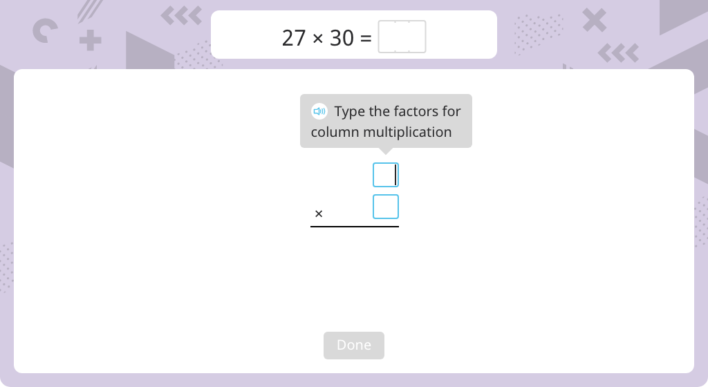 Multiply by a number with a power of 10 using the standard algorithm