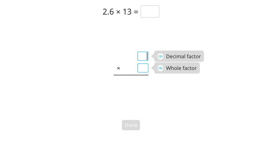 Multiply a 2- or 3-digit decimal number by a 2-digit whole number using the standard algorithm (Level 2)
