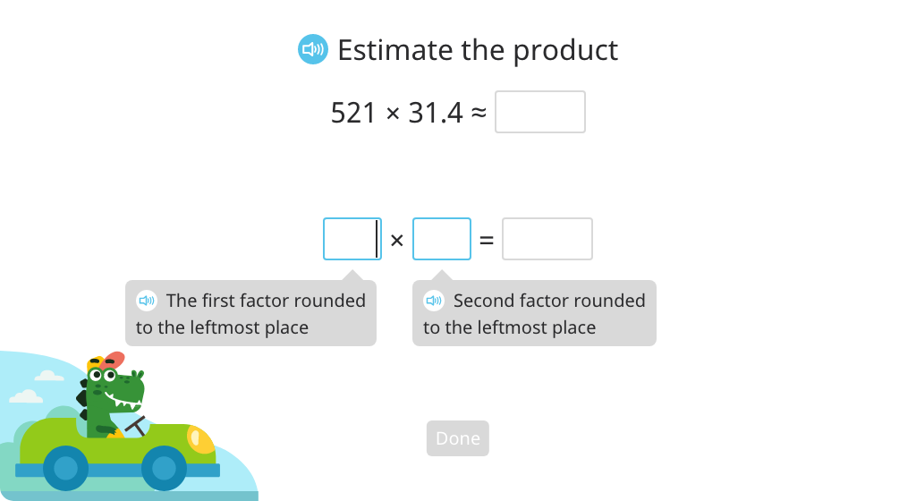Estimate the product of a decimal number and a 3-digit whole number (Part 2)