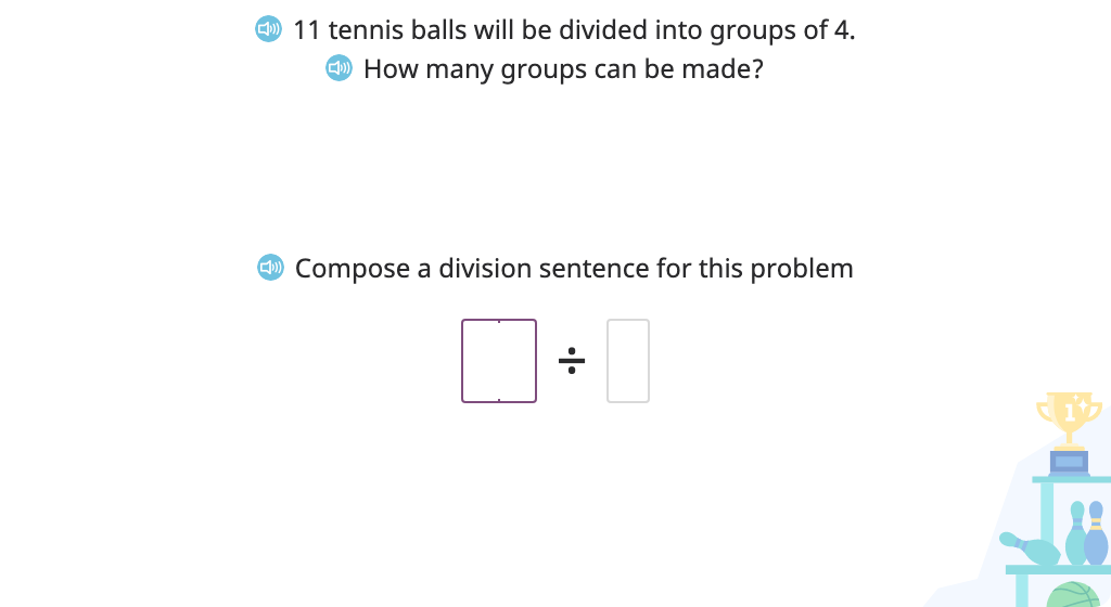 Divide a group of objects into groups of given size with a remainder