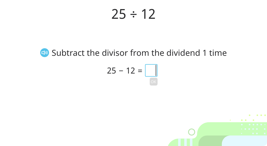 Find the quotient and remainder by subtracting the divisor from the dividend (Part 2)