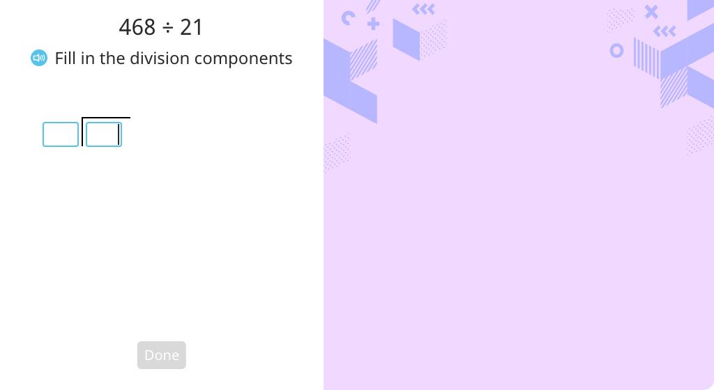 Solve using long division with a 2-digit quotient (Part 1)