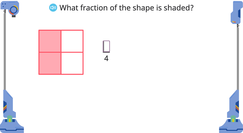 Write an equivalent fraction (larger) based on a given multiple or denominator
