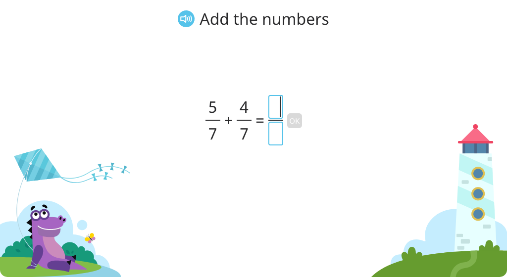 Add fractions with like denominators and rewrite the sum as a mixed number