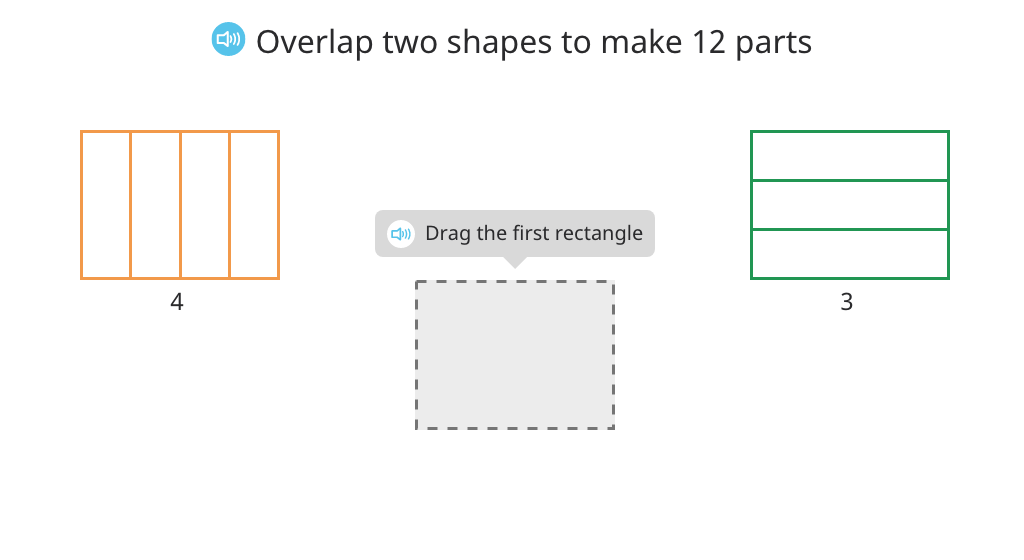 Divide shapes into an equal number of parts (precursor to finding common denominators)